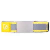 ID sobre correa ajustable  en velcro para usar en el collar de su mascota o en los  cordones de zapato - placa 18*28 mm