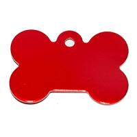 Id para mascota forma de piedra  color rojo 21*31*1 mm