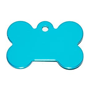Id Para Mascota Forma De Piedra  Color Azul Claro 21*31*1 Mm