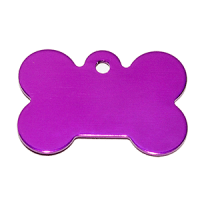Id para mascota forma de piedra  color purpura 21*31*1 mm
