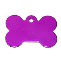 Id para mascota forma de piedra  color purpura 21*31*1 mm