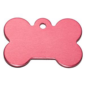 Id Para Mascota Forma De Piedra  Color Rosado 21*31*1 Mm