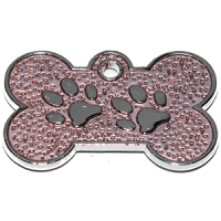 ID huellitas para mascota color purpura claro 15*26 mm