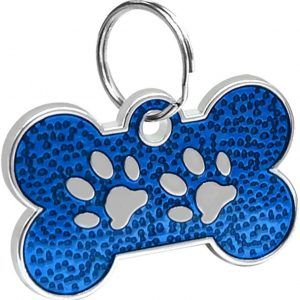 ID Huellitas Para Mascota Color Azul 20*30mm