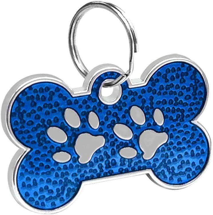 ID Huellitas Para Mascota Color Azul 20*30mm