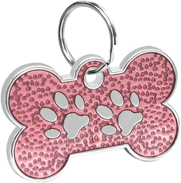 ID Huellitas Para Mascota Color Rosa Claro 20*30mm