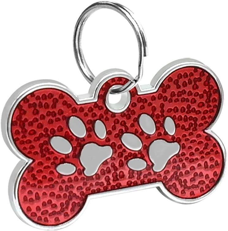 ID Huellitas Para Mascota Color Rojo 20*30mm